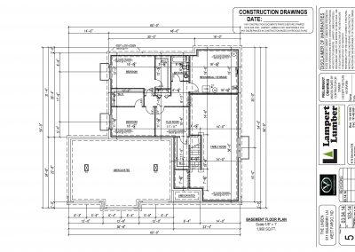 The Linden Basement Plan