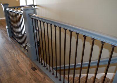Custom Home Stairway Railings