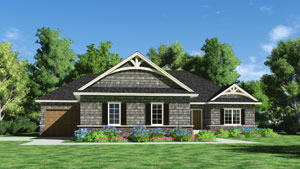 Lincoln Custom Home Rendering
